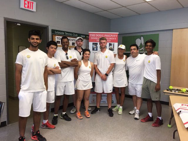 Leaside Tennis Club celebrates Wimbledon and supports Philpott Children's Tennis