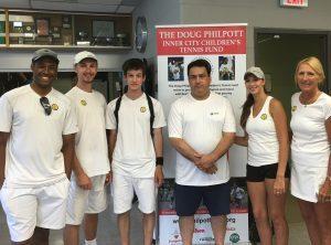 Leaside Tennis Club celebrates Wimbledon and supports Philpott Children's Tennis